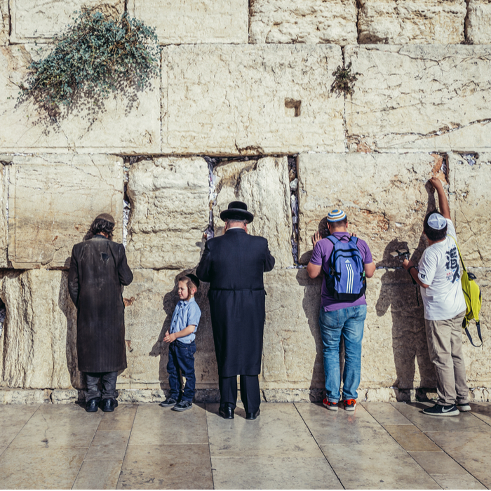 Jews of every religious stripe pray side by side at Western Wall