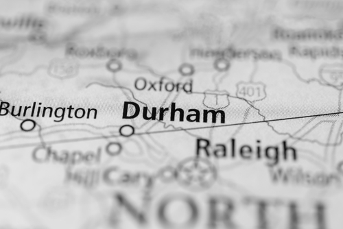 Durham on a map