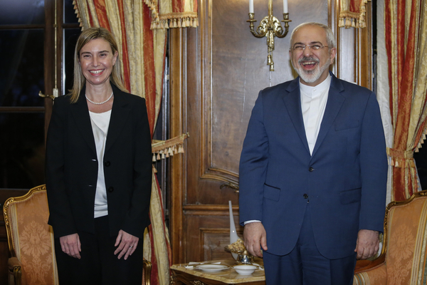 Frederica Mogherini with Mohammad Javad Zarif