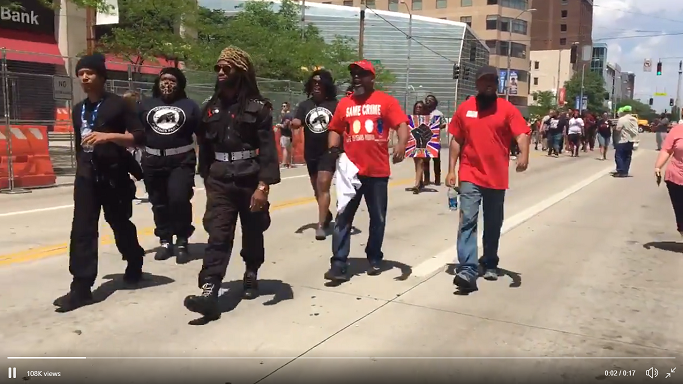 Black panthers protest against KKK in Dayton May 25