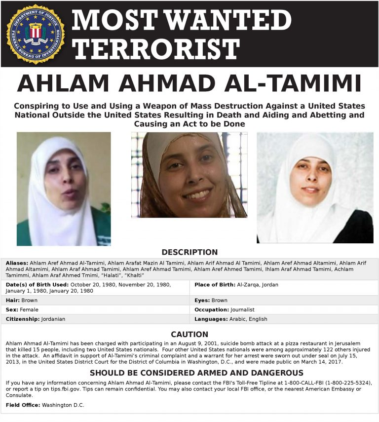 ahlam-ahmad-al-tamimi-FBI-Most-Wanted-Poster