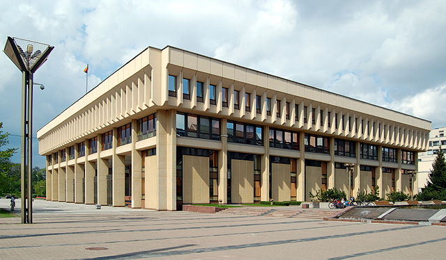 The Lithuanian Parliament, the Seimas Palace, in Vilna