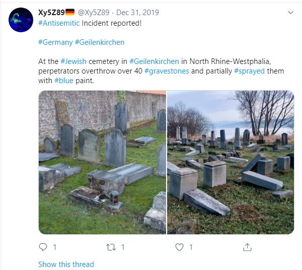 German Cemetery Desecration Geilenkirchen
