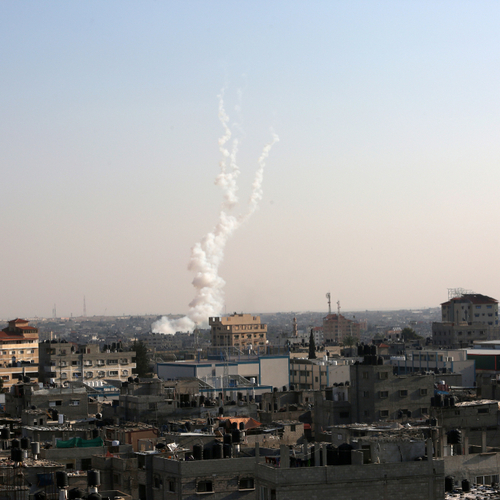 rocket fire from gaza into civilian israel