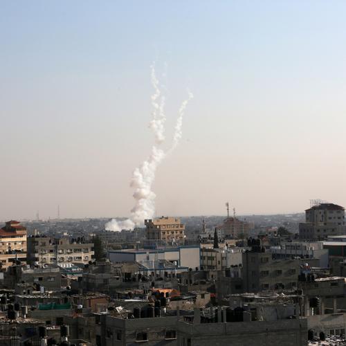 rocket fire from gaza into civilian israel