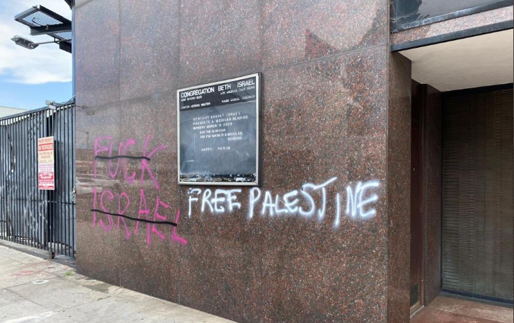 LA Congregation Beth Israel defaced with antisemitic graffiti during George Floyd protests