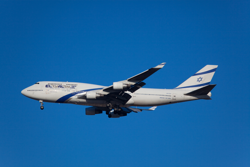 El Al airplane in flight
