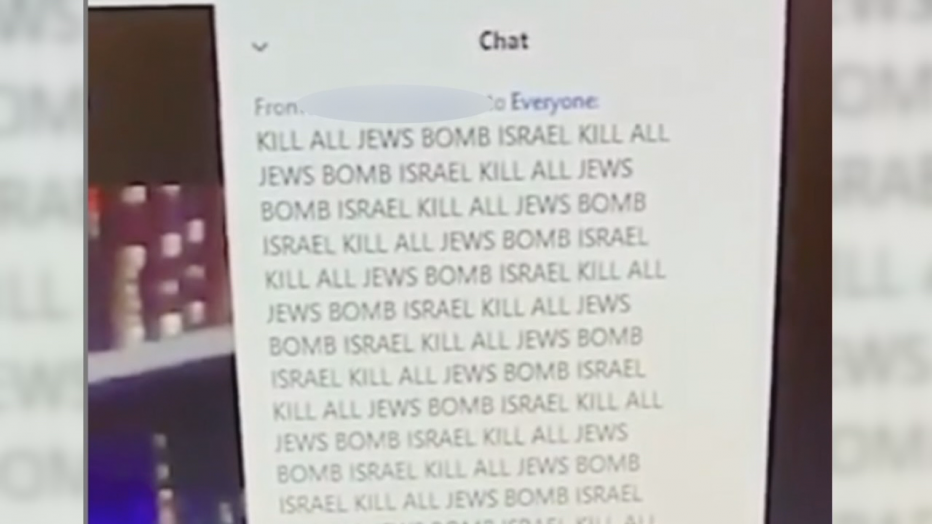 Antisemitic Zoom Bombing Screenshot Dallas Tisha B'av 2020