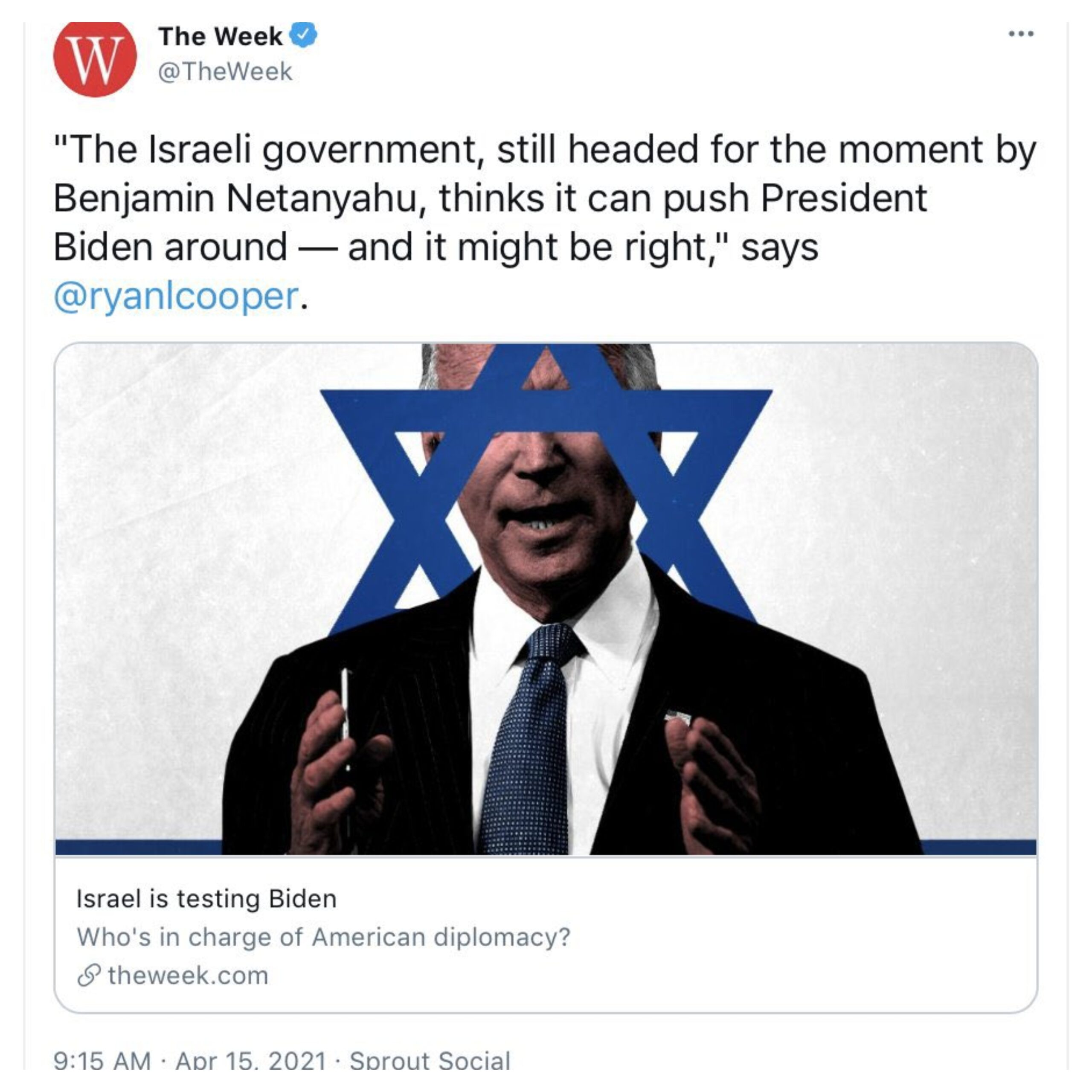 The week Biden trapped in blue Magen David